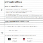 Setting Up Digital Assets